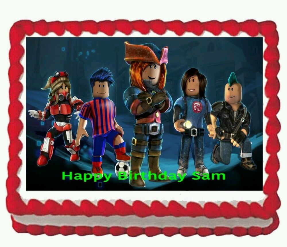 Roblox Birthday Party Icing Edible Cake Topper 1 4