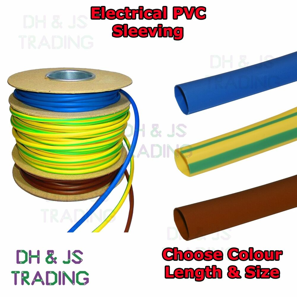 Electrical PVC Sleeving Earth Brown & Blue 2mm 3mm 4mm Tubing Wire ...