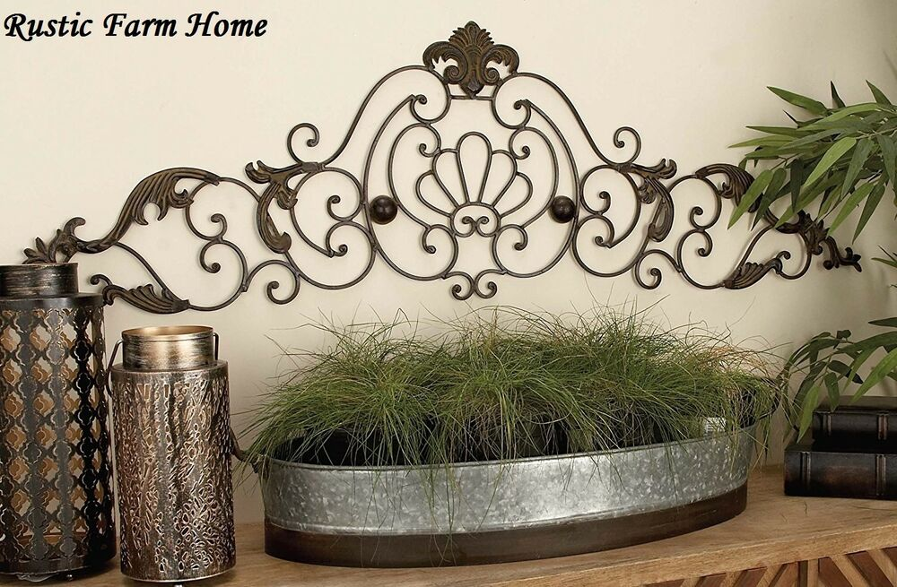 Classic Scroll Wrought Iron Metal Wall Decor Rustic