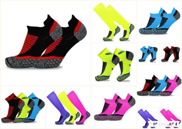 TeeHee Athletic Sports Compression Cushioned Liner, Crew, Anklet Socks 3-Pack