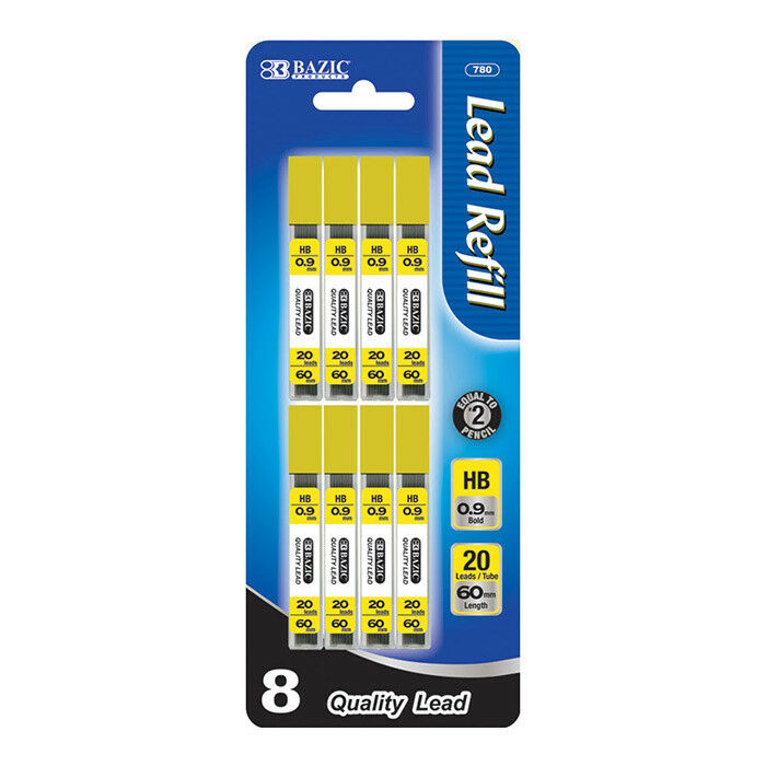 Lot of 5 Refill Lead HB 0.9mm//60mm Mechanical Pencil Lead 160 leads per pack
