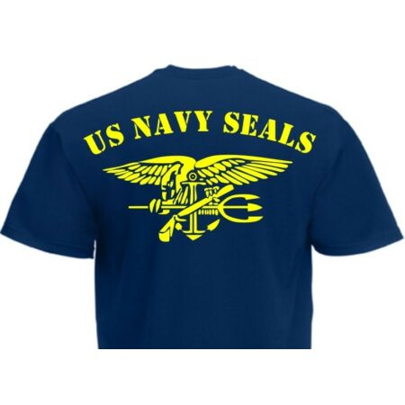 img-T-Shirt US Army Navy Seals with Anchor & Eagle Rücken Marines Gr S-XXL WK2 WWII