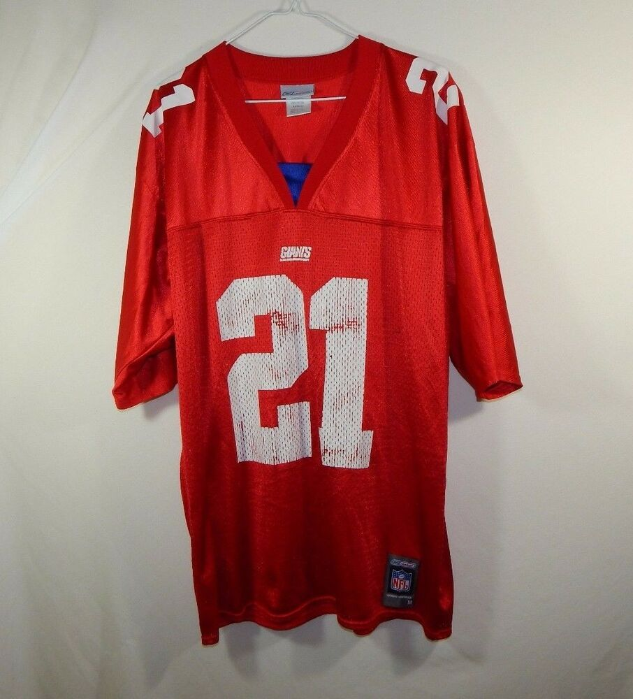 5285843d Tiki Barber New York Giants NFL Football Jersey Red Reebok Size MEDIUM M |  eBay