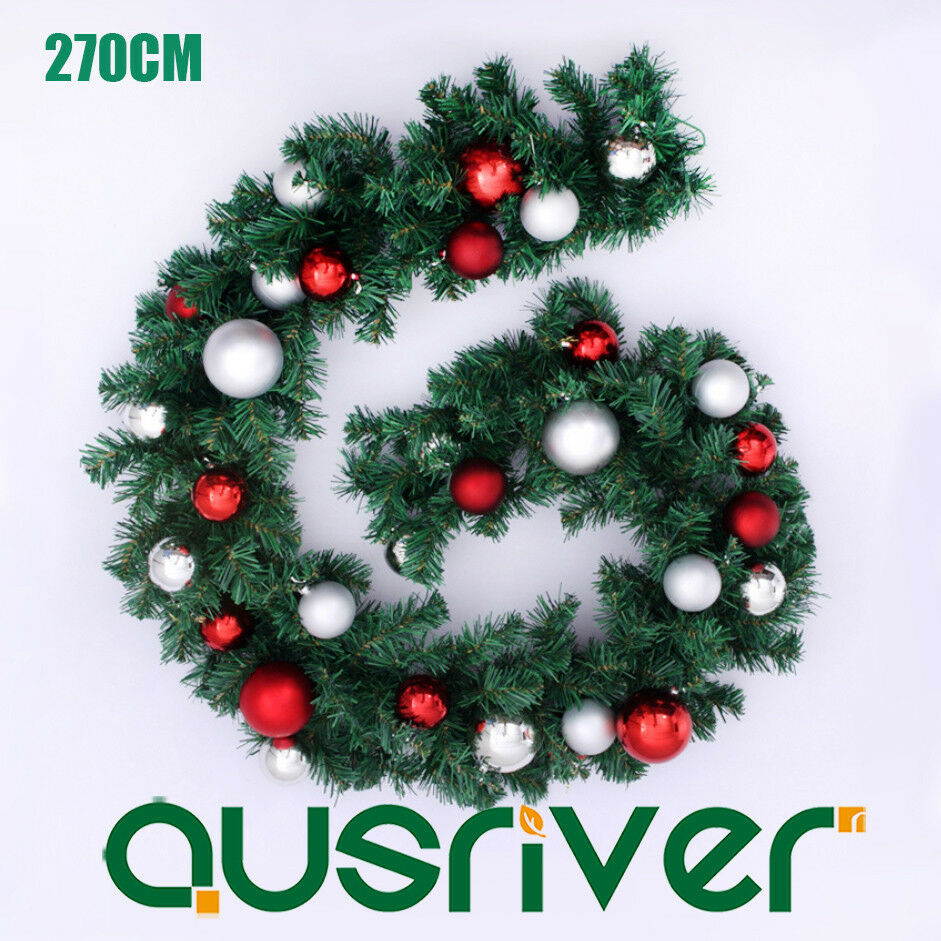 270cm 9ft Green Pine Christmas Xmas Garland Fireplace Shop