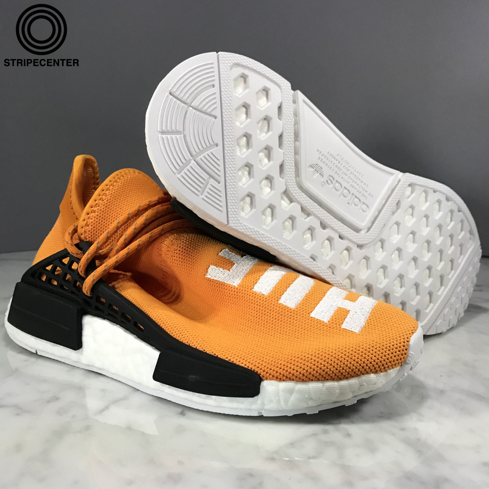 92ca37139c60 Details about adidas PHARRELL X NMD HUMAN RACE  TANGERINE  TANGERINE  TANGERINE CBLK - BB3070