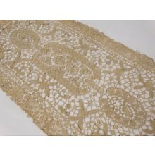ANTIQUE NEEDLE LACE RUNNER BUREAU SCARF HAND MADE LACE  32