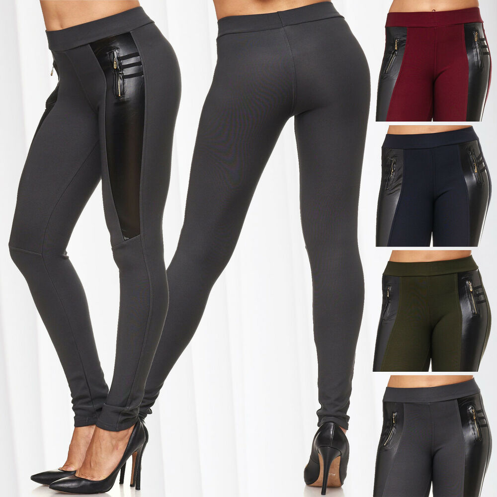 neu damen biker treggings leder h fthose sexy hose r hre. Black Bedroom Furniture Sets. Home Design Ideas