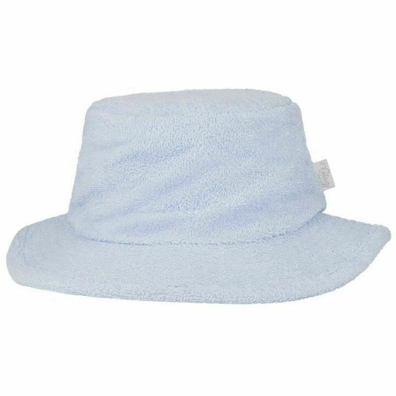 Details about Terry Towelling Bucket Hat Narrow Brim Fishing Camping  Surfing Blue Sun Hat 865f33324b0