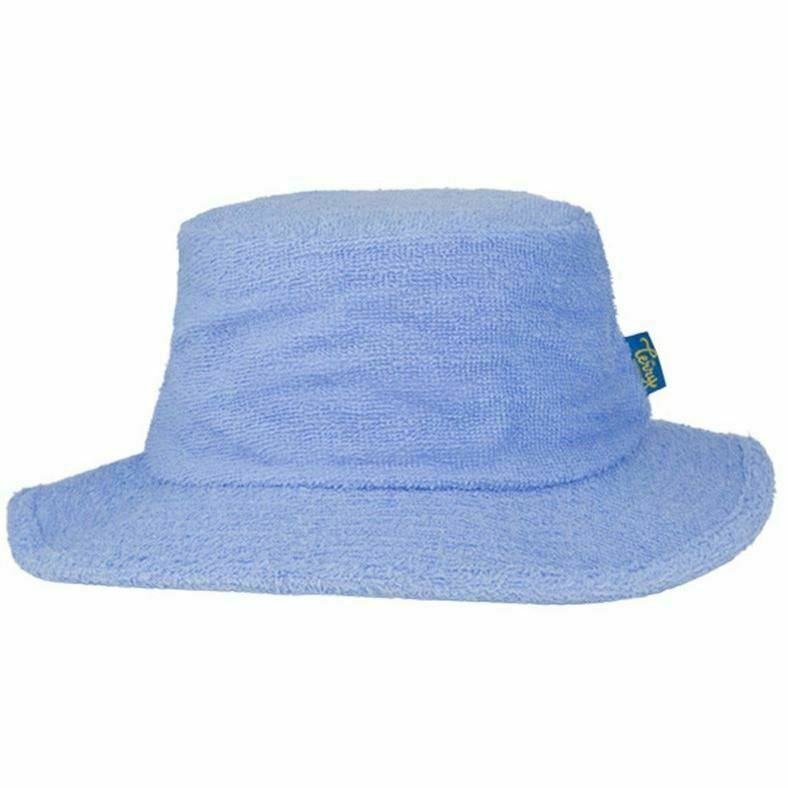 Details about Terry Towelling Bucket Hat Sun Protection Cotton Fishing  Camping Sky Blue 0e5dfe4db01
