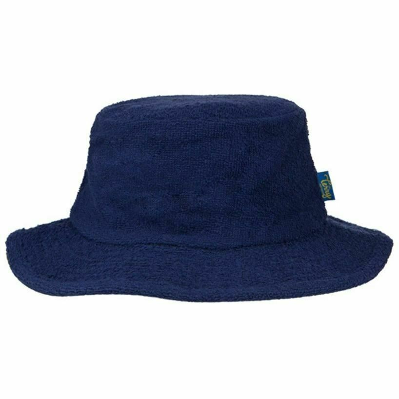 c6714490d41b07 Details about Terry Towelling Bucket Hat Sun Protection Cotton Fishing  Camping Navy