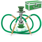 """Hight 11"""" Double Hose Hookah-SHISHA-CHICHA-PIPE WITH CARRYING CASE*FROM CANADA*"""