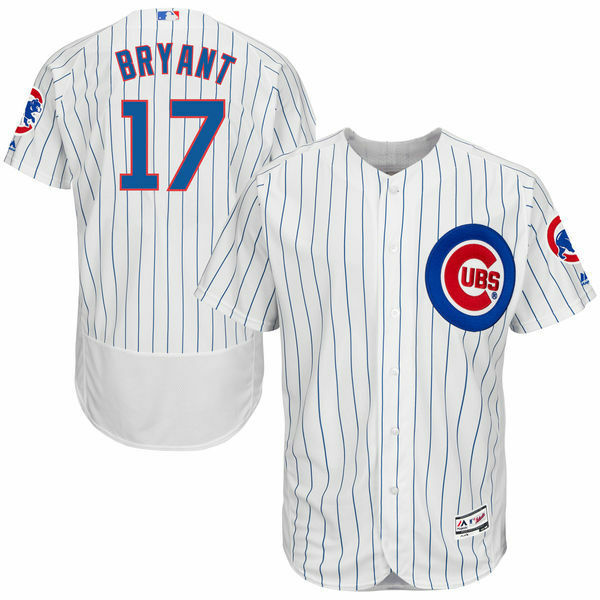 a607c0d4e Details about Kris Bryant  17 Chicago Cubs Men s White Home Cool Flexbase  Jersey