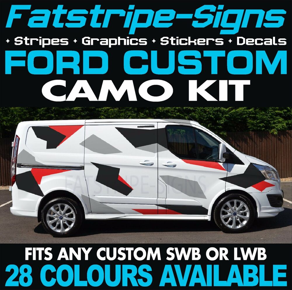 Details about ford transit custom camo graphics stickers decals camouflage swb lwb day van