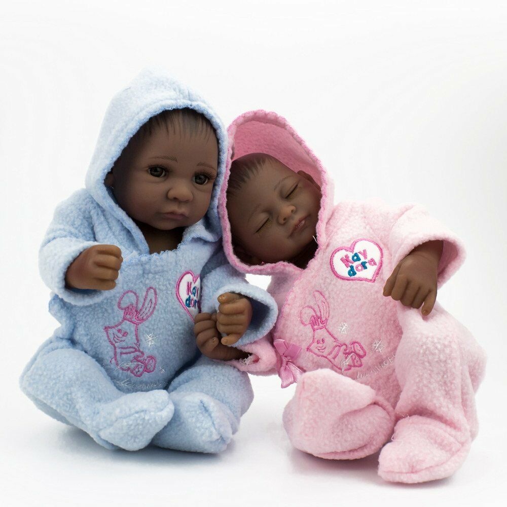Details about 10 african american baby doll boy or girl twins lifelike reborn baby doll gifts