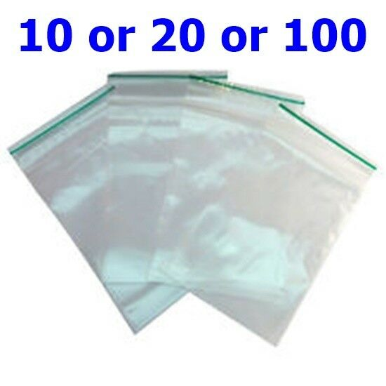 100 Small Clear Plastic Bags Baggy Grip Self Seal Resealable Zip Lock Plastic B3