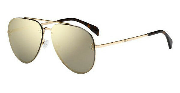87799986fd4a NEW Genuine CELINE MIRROR Gold Bronze Metal Pilot Sunglasses CL 41391 S J5G  MV