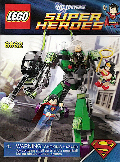 Lego 6862 Instruction Booklets Only Superman Vs Power Armor Lex New
