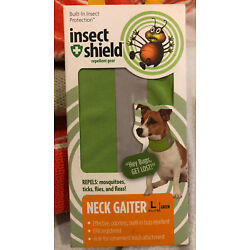 NEW Insect Shield Neck Gaiter Dogs, Bug Repellent, Multiple Sizes, Green