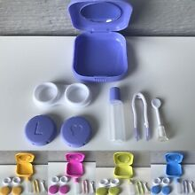 Contact Lens Case Holder Travel Kit Set Storage Remover Inserter Tweezers Mirror