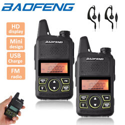 Kyпить 2x Baofeng BF-T1 Two Way Radio UHF 400-470MHz Walkie Talkie Long Range + Headset на еВаy.соm