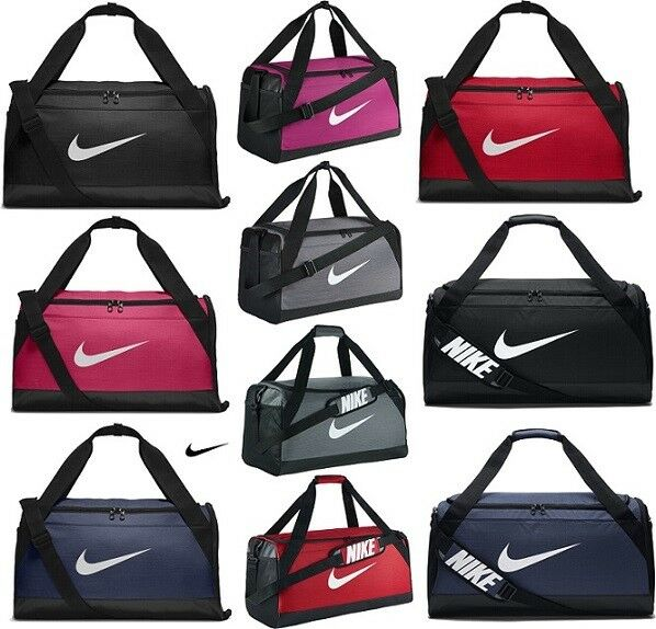 bff5f65973d8 Nike Brasilia Duffle Sports Gym Bag Holdall Duffel Football Team Kit Bags  XS S