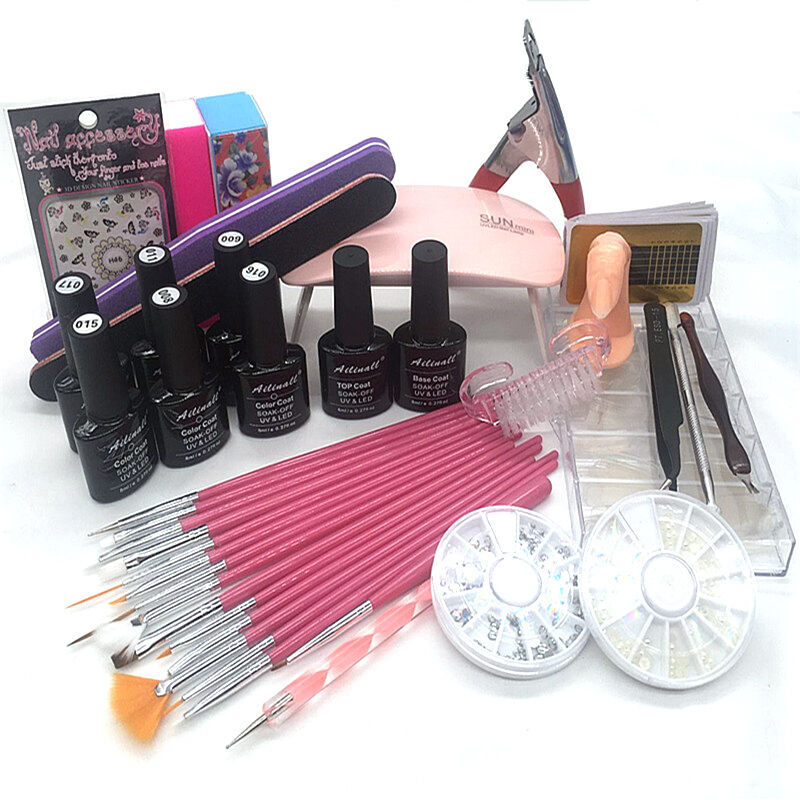Uv Gel Nail Polish Starter Kit: New 6Colors UV Gel Polish Nail Lamp Usb Mini Dryer Starter