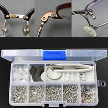 Eyeglass Sun Glasses Optical Repair Tool Assortment Kit Screw Nut Nose Pad Set
