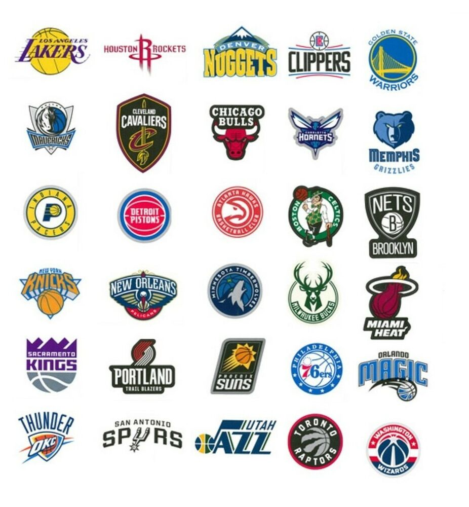 Nba Teams: NBA Decal Stickers Basketball Team Logos Licensed Complete