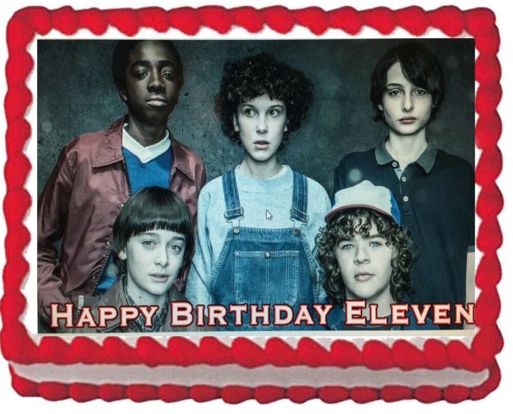 Stranger Things Birthday Party Edible Cake Topper Image ...