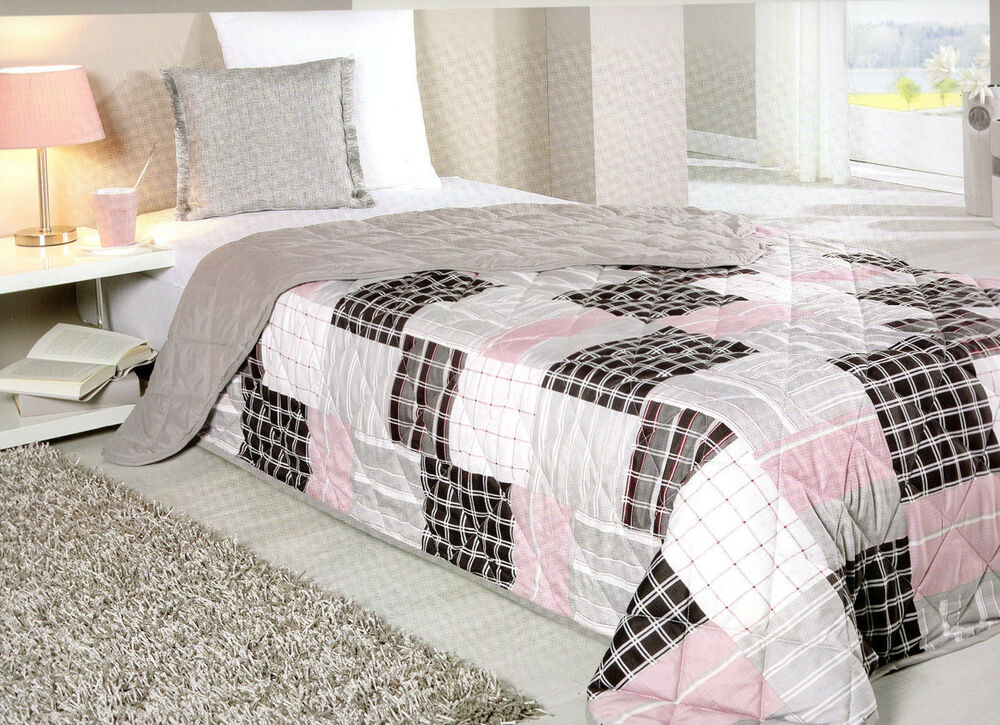 xxl tagesdecke bett berwurf decke 220x240 patchwork plaid quilt landhaus shabby ebay. Black Bedroom Furniture Sets. Home Design Ideas