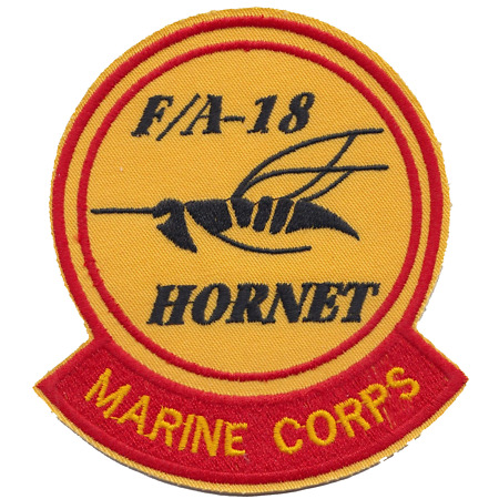 img-USMC F/A-18 Hornet Fighter Jet Embroidered Patch ** LAST FEW **