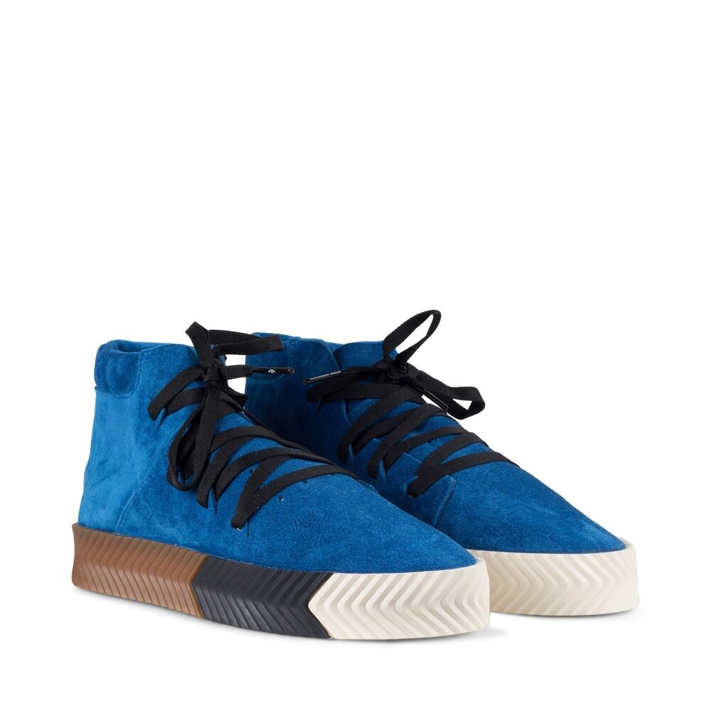 super popular dc134 455a3 Details about adidas Originals by ALEXANDER WANG Skate Mid BLUE
