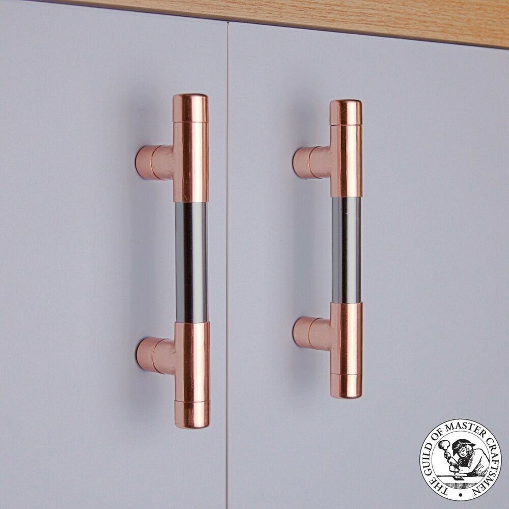 Quirkhub 174 Modmix Copper And Chrome T Bar Handle Copper