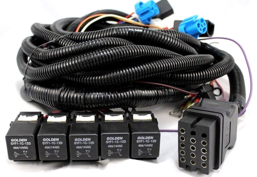Boss Snow Plow Harness 5 Relay Main Truck Side Wiring