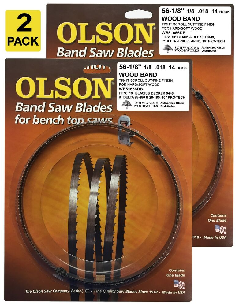 Olson Band Saw Blades 56 1 8 Quot Inch X 1 8 Quot 14tpi For Delta
