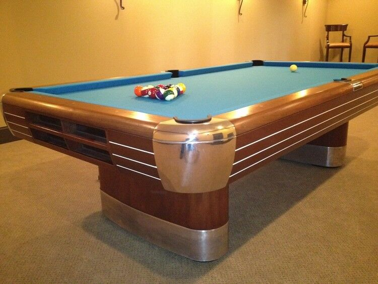 Vintage/Antique Brunswick Billiards Mid Century Modern 9u0027 Anniversary Pool  Table