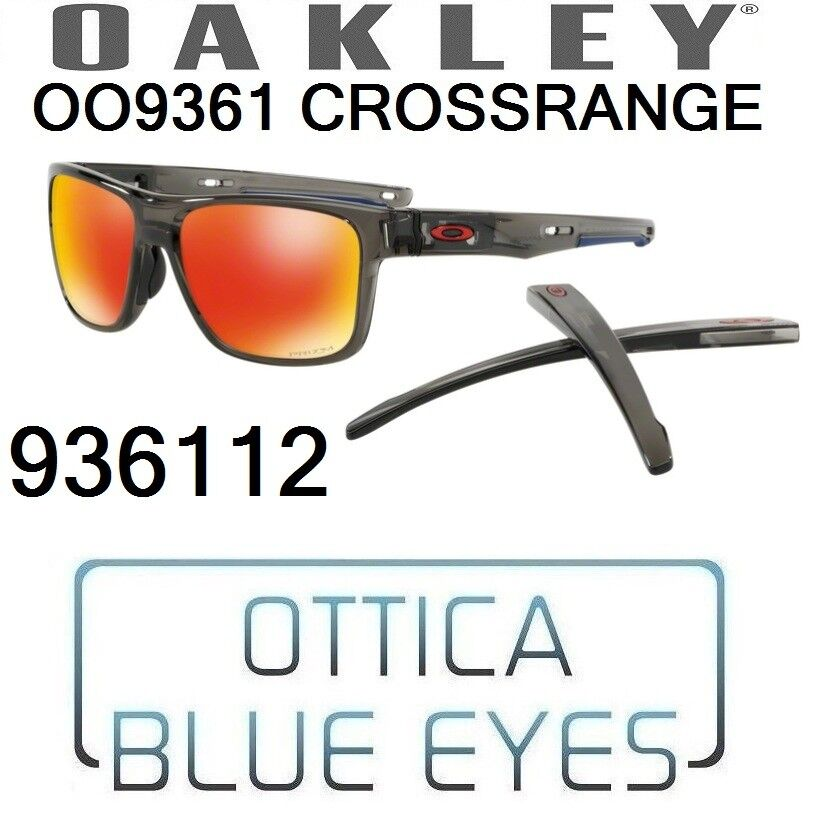 bc818a6c14d Details about Occhiali da Sole OAKLEY CROSSRANGE OO 9361 12 Sunglasses  936112 PRIZM RUBY NEW
