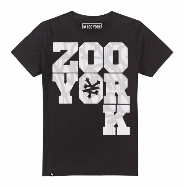 Mens Zoo York - Graffiti Stack - TShirt - Black