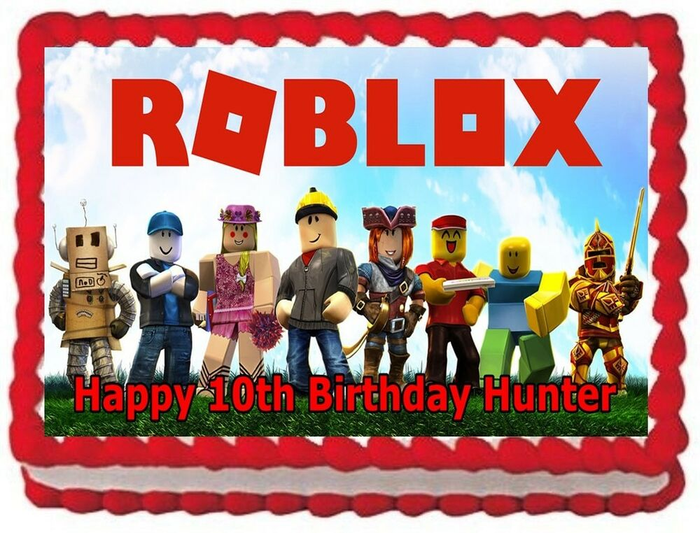 EDIBLE ROBLOX IMAGE frosting sheet CAKE TOPPER BIRTHDAY ...