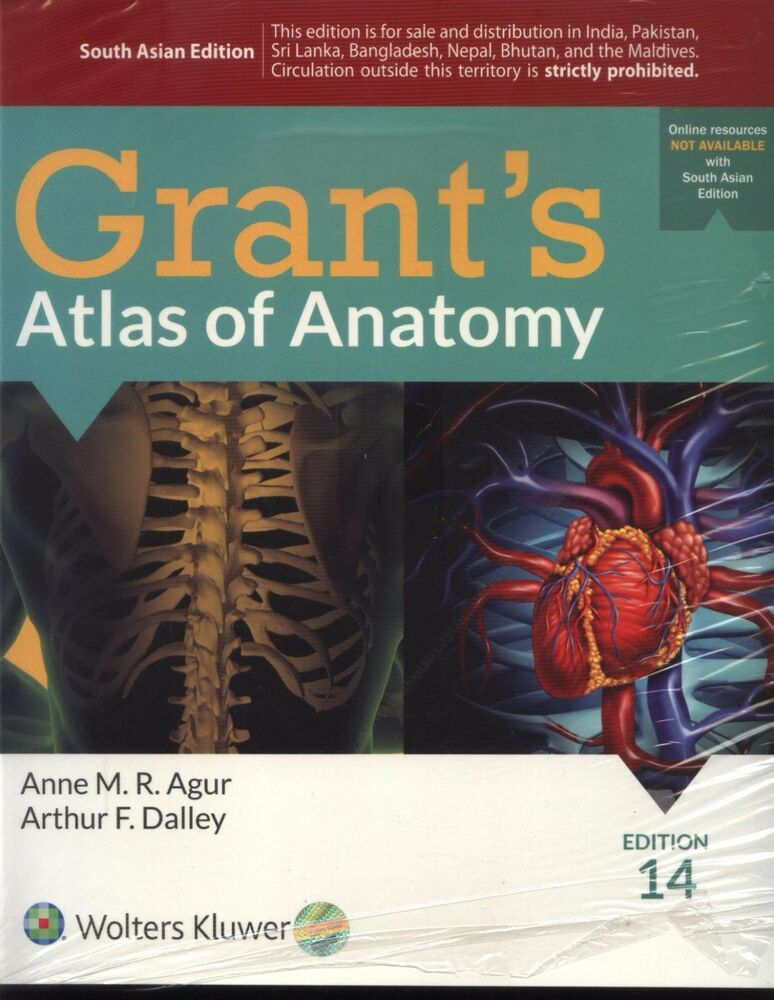 NEW Grant\'s Atlas of Anatomy by Anne M. R. Agur and Arthur F ...