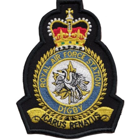 img-RAF Digby Royal Air Force MOD Crest Embroidered Patch