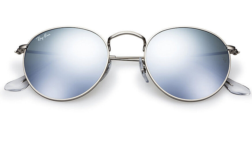 ba2c61f6320 Details about NEW Original RAY-BAN Silver FLASH LENS Round Metal Sunglasses  RB 3447 019 30 50