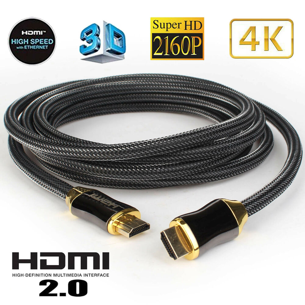 Hdmi Cable Ultra Hd 4k 3d Hdr High Speed Compatible 21 20a 20 14 House Wiring 14a 3m Lot Ebay