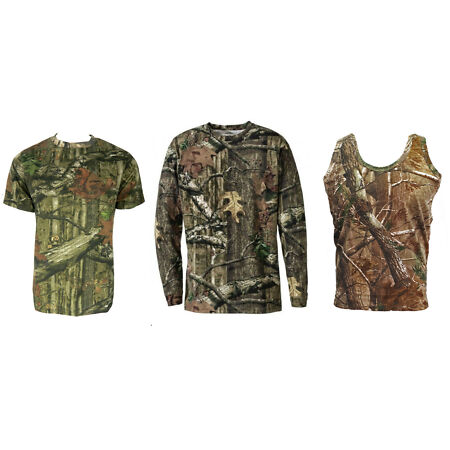 img-Mens Jungle Print Short & Long Sleeve T-Shirt or Vest Camo Regular to Plus Size