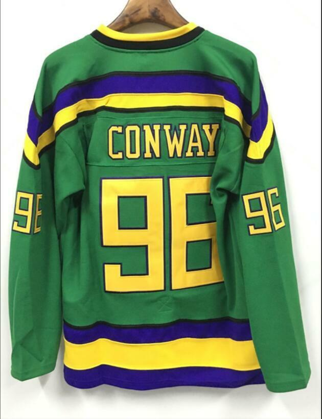 Details about The Mighty Ducks Movie Jersey  96 Charlie Conway Hockey  Jersey Stitched. USA 1--12 Hours Fast Ship 7c40feab0