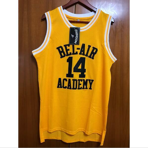 7ef2e2e6dfff Fresh Prince of Bel-Air Will Smith 14 Bel-Air Academy Basketball Jersey  S-XXXL
