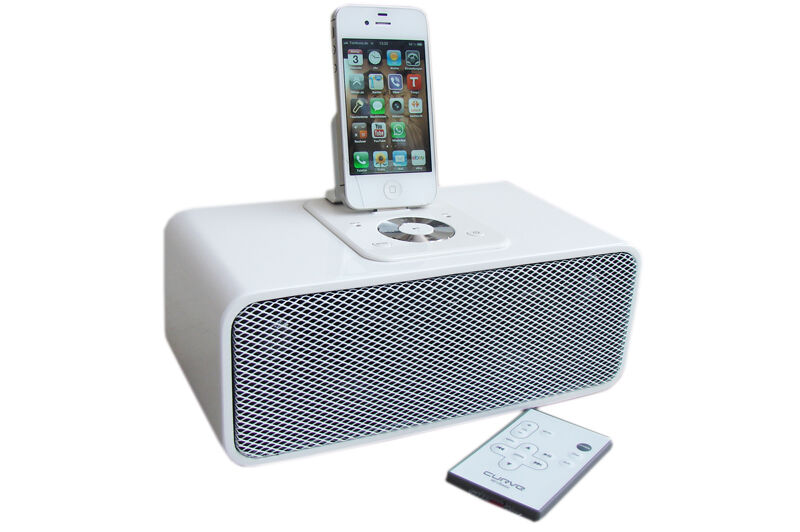 curve 90 classic mp3 sound system lautsprecher docking station ipod ipad iphone ebay. Black Bedroom Furniture Sets. Home Design Ideas