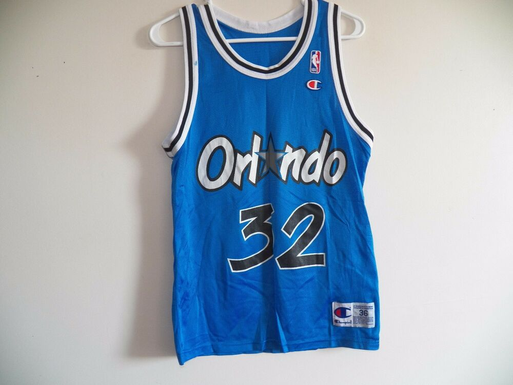 VINTAGE SHAQUILLE ONEAL ORLANDO MAGIC SIZE 36 MENS CHAMPION SHAQ NBA  32  JERSEY  441a6d8f5