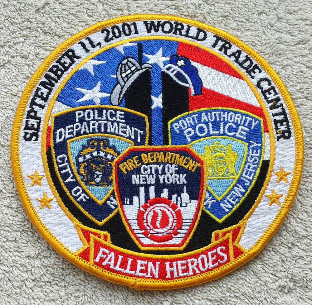 NEW YORK 9/11 HEROES PATCH NYPD FDNY Port Authority Police