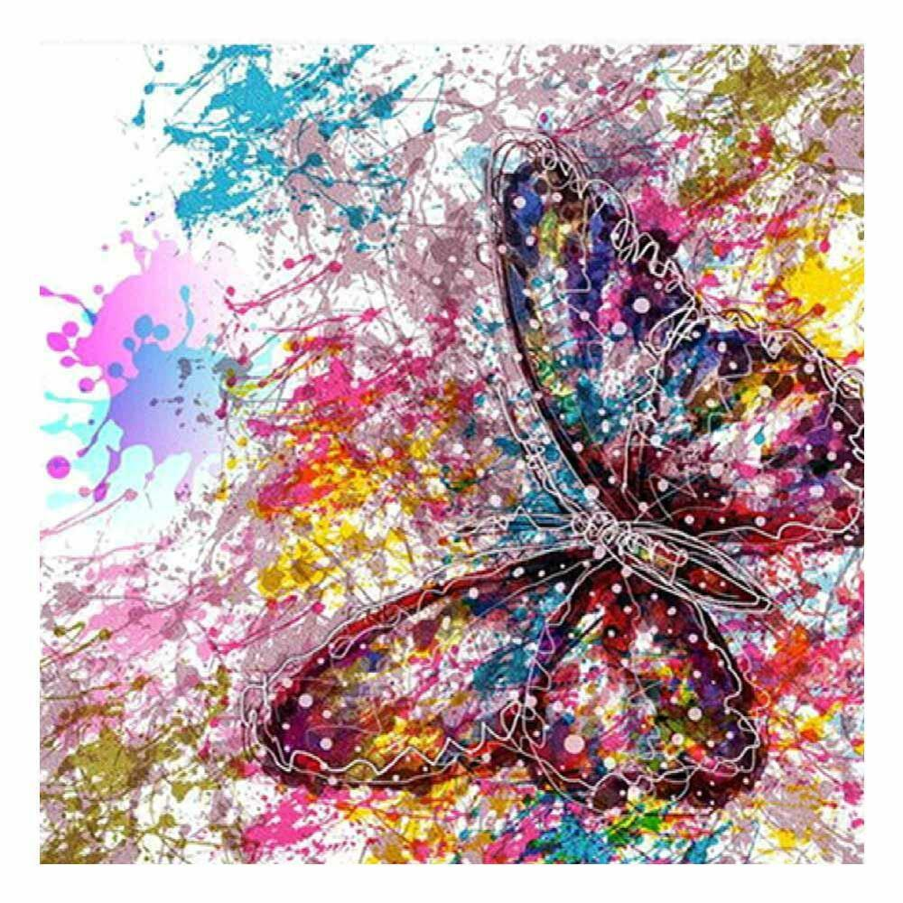 Diy Paintings: 5D Full Butterfly DIY Diamond Painting Embroidery